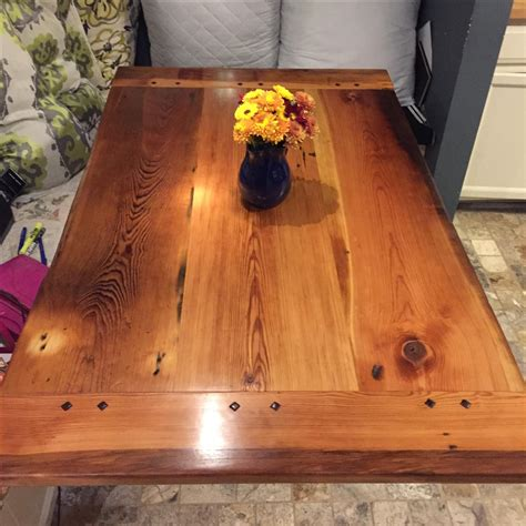 Buy a Handmade Old Growth Yellow Pine Farm Table With
