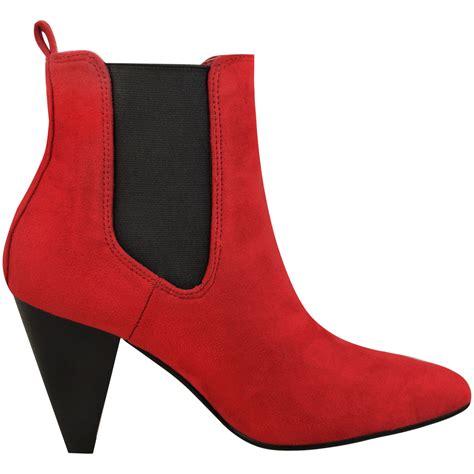 high cuban heel boots womens ankle boots block high cuban heel stretchy