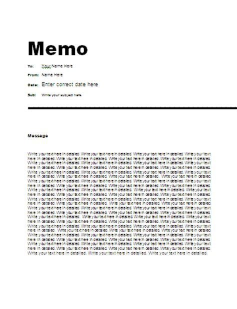 business memo templates business memo template free myideasbedroom