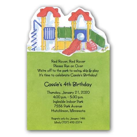 Park Playground  Ee  Birthday Ee   Invitations Paperstyle