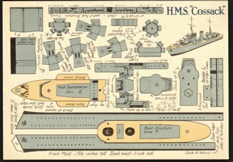 Card Model Ship Templates by B1 Fighting Ships