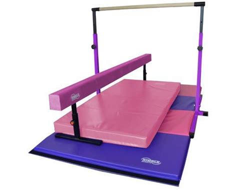 Gymnastics Bars And Mats by New Deluxe Purple Junior Bar Pink Balance