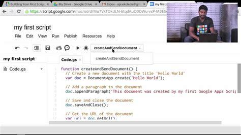 Tutorial Video Script | your first script apps script tutorials youtube