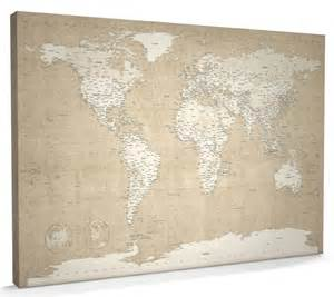 Canvas World Map by Map Of The World Map Canvas A1 22x34 Inch M359 Ebay