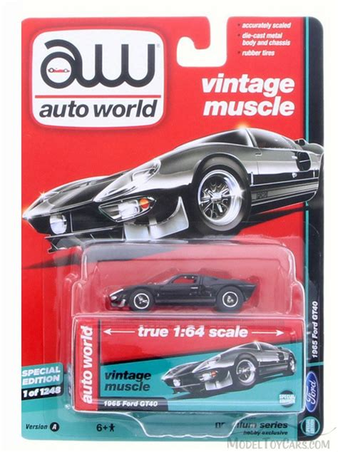 Auto World 1 64 1965 Ford Gt 40 Black Mijo Exclusive New Pre Order 1965 deluxe series ford gt40 top black auto world aw64082 24a 1 64 scale diecast model
