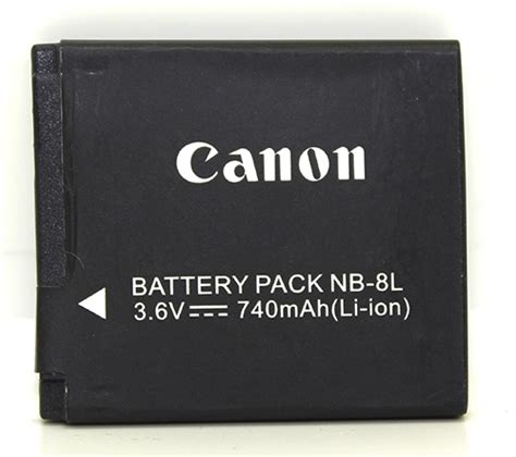 Canon Battery Nb 8l 740mah canon nb 8l rechargeable lithium ion end 8 5 2018 11 15 am