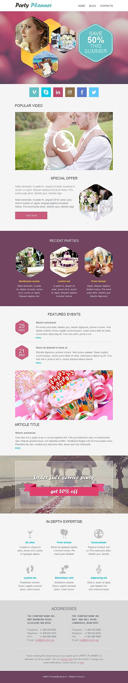 Responsive Newsletter Templates For Effective Email Marketing Entheos Effective Newsletter Templates