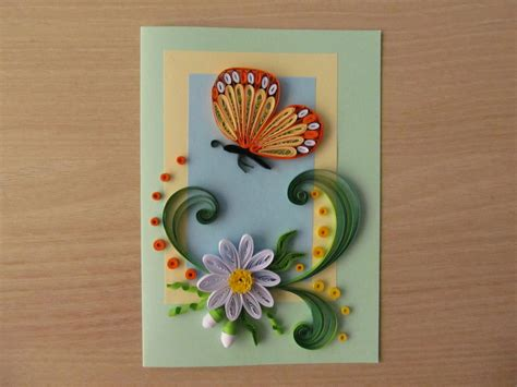 Handmade Paper Greeting Cards - paper handmade greeting card butterfly and