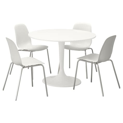 Docksta Leifarne Table And 4 Chairs White White 105 Cm Ikea White Chairs For Dining Table