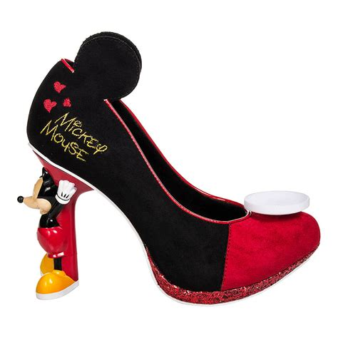 mouse shoes irregular choice black mickey mouse high heeled
