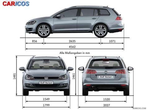 Volkswagen Golf Dimensions by 2015 Vw Golf Size Dimensions 2017 2018 Best Cars Reviews