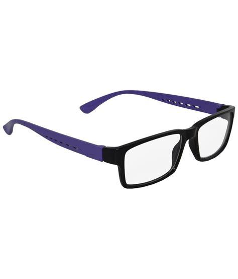 mall4all black purple rectangular eyeglass frame for