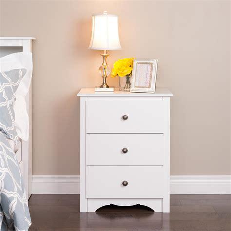 Cheap White Nightstand by Prepac Monterey 3 Drawer White Nightstand Wdc 2403 The
