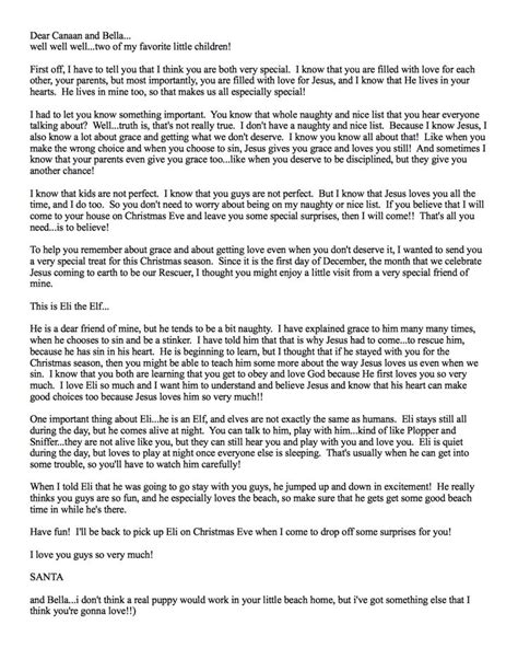 Santa Explanation Letter 1000 ideas about letter explaining santa on