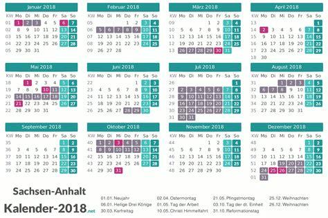 Kalender 2018 Sachsen Ferien Sachsen Anhalt 2018 Ferienkalender 220 Bersicht