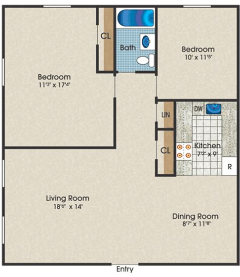Two Bedroom House Map by Home Minimalist Floor Plans