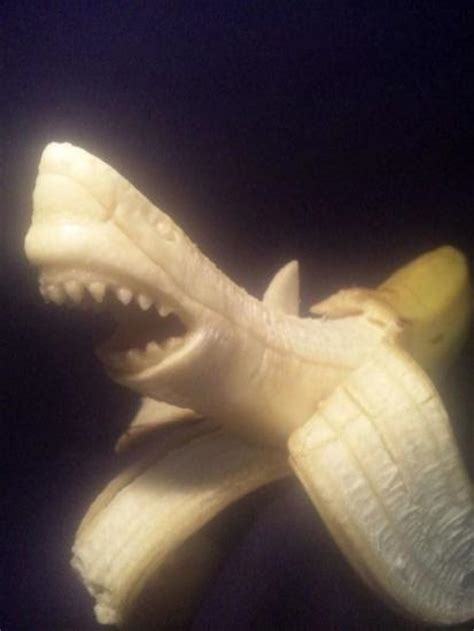 baby shark banana coolest banana sculptures