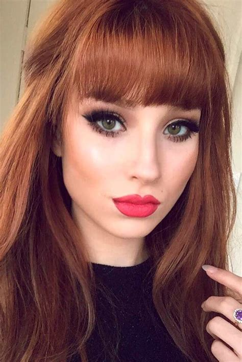 Different Types Of Bangs For Hair by 21 And Flattering Hairstyles With Bangs Hair