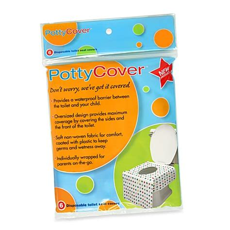bathroom seat cover pottycover 6 pack disposable toilet seat covers bed bath beyond