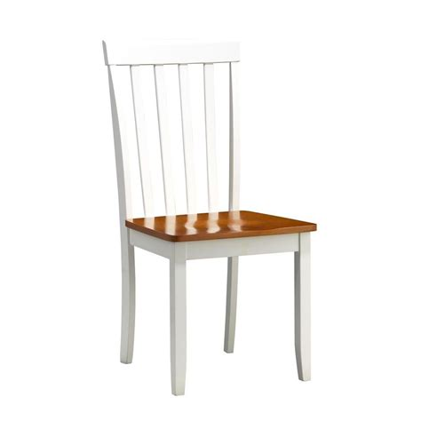 Oak And White Dining Chairs Boraam Bloomington White And Honey Oak Wood Dining Chair Set Of 2 22031 The Home Depot
