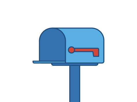 animated mailbox dribbble show and tell for designers