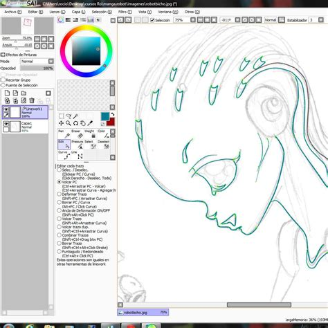 tutorial de dibujo en paint tool sai curso gratis de dibujar robot dibujo en paint tool