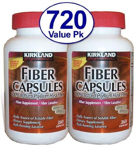 Kirkland Fiber Capsule 100 Psyllium Husk Fiber Obat Kolestrol 720 ct fiber capsules kirkland therapy for regularity fiber supplement compare to the active