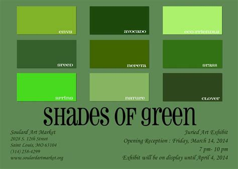 types of green color shades of green packaging green shades