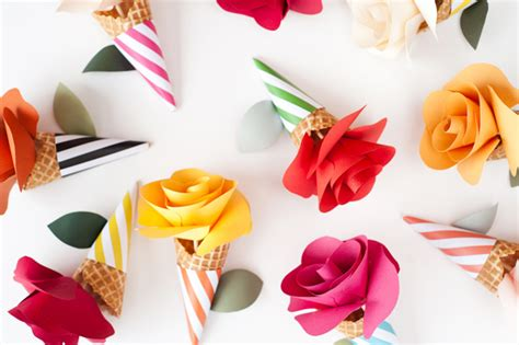 Diy Paper Flower Cone Bouquets Flower Cone Template