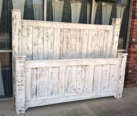 distressed wood bed reclaimed wood king size four poster bed painted