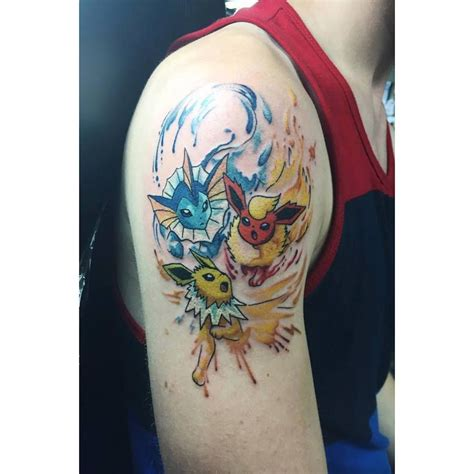 pokemon tattoo chronic ink toronto vaporeon flareon and