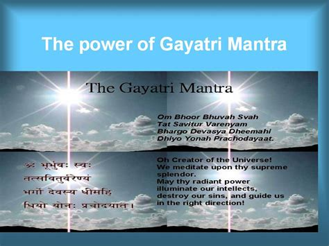 mantra meaning the power of gayatri mantra