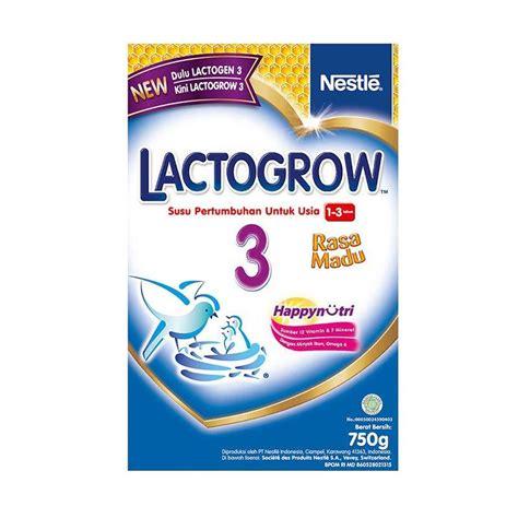 Lactogrow 3 750gr Madu Dan Plain jual lactogrow 3 750gr madu prosehat