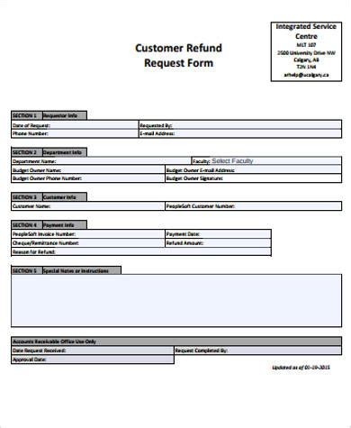 sle customer request form 11 exles in word pdf