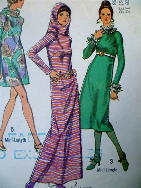 the hoid haircut from the 70s 70s dress with hood mini midi maxi dress pattern