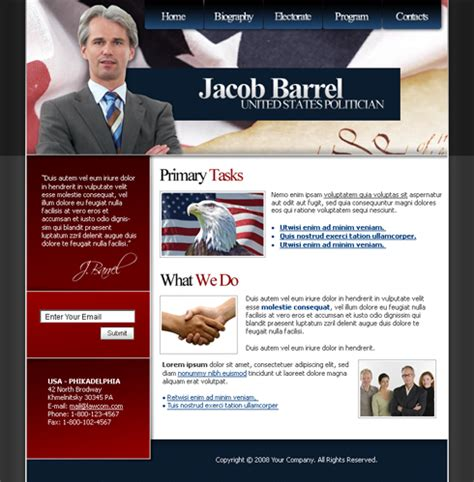 Politics Web Template 3676 Military Security Website Templates Dreamtemplate Political Website Templates