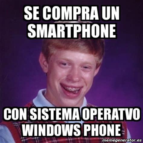 Meme Telephone - meme bad luck brian se compra un smartphone con sistema