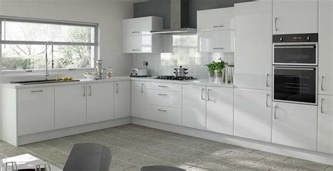 Glossy White Kitchen Cabinets by White Gloss Kitchen Cupboard Doors Rapflava