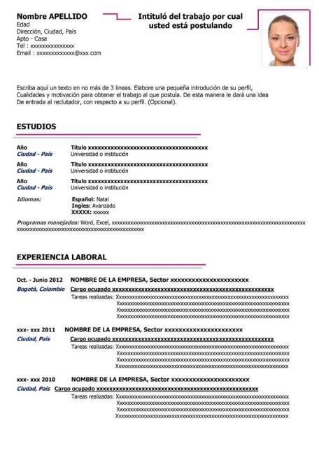 Plantilla Curriculum Vitae Para Rellenar Y Descargar 50 modelos de curriculum vitae para descargar gratis en word