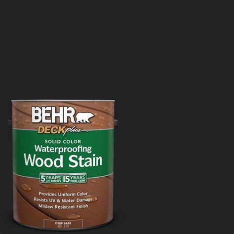 behr solid color waterproofing wood stain behr deckplus 1 gal sc 102 slate solid color