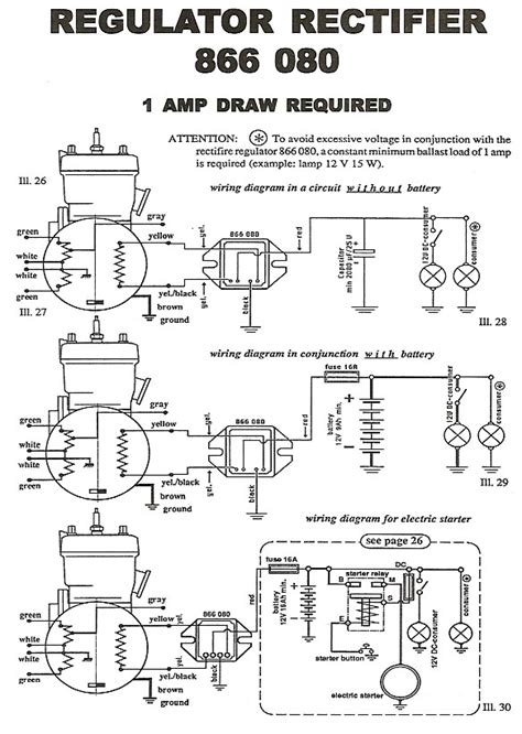 5 wire rectifier wiring diagram 5 free engine image for