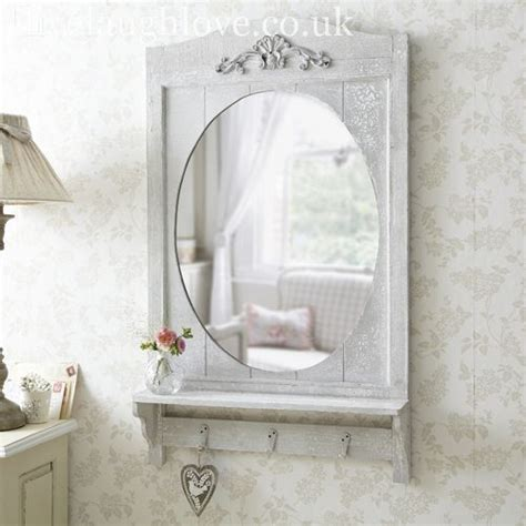 shabby chic bathroom mirrors large rustic mirror with shelf hooks mirrors
