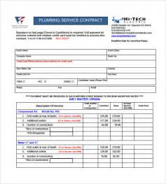 plumbing contract template 7 download documents in pdf