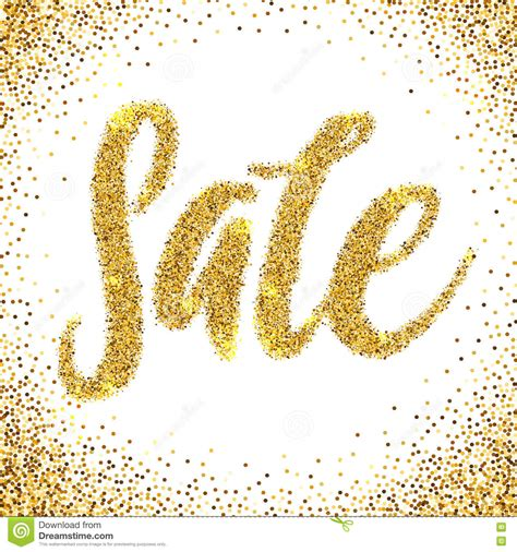 Sale Gliter sale golden glitter text poster gold sale background for