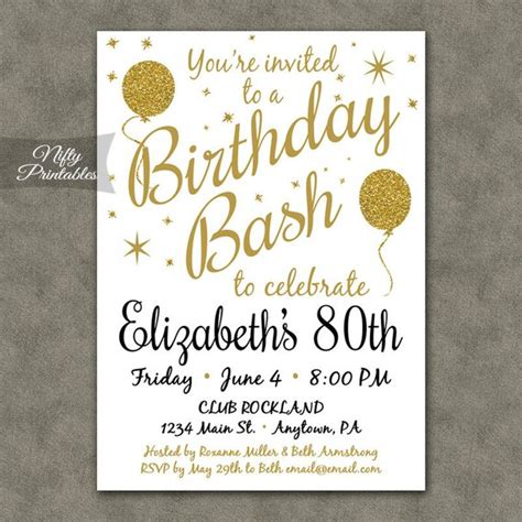 free invitations for 80th birthday 80th birthday invitations printable 80th birthday