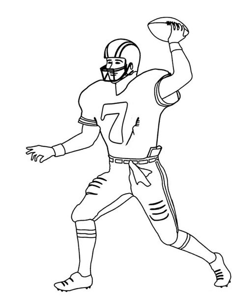 coloring pages of nfl players 15 images of eagles football players coloring pages