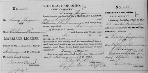 Erie County Marriage Records Ohio Graveyard Rabbit Of Sandusky Bay Marriage Record Of