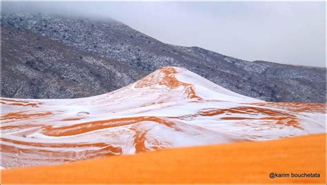 snow in sahara first snow in the last 30 years covers algerian sahara in