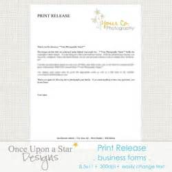 Print Release Template by Print Release Form Template Template Design