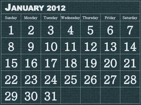 January 2012 Calendar January 2012 Calendar Free Desktop Wallpaper